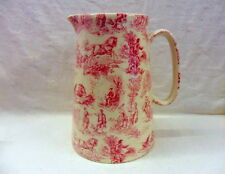 "Pink toile du joey design 4 pint pitcher. ""special offer"""