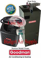 4 ton 14 SEER  Goodman HEAT PUMP GSZ140481+ASPT49D14+ 25ft LineSet +Tstat+Heat