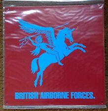 ARMY METAL SIGN - BRITISH AIRBORNE FORCES PEGASUS