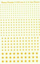 Fantasy Printshop Decals YELLOW STARS 2mm 3mm 4mm 6mm