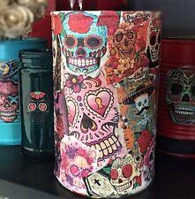 Day of the Dead Día de los Muerto COLLAGE Can Vase Sugar Skull Halloween Gothic