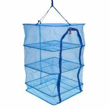 40 * 40 * 65cm 4 Layers Folding Fish Dishes Mesh Hanging Drying Net New A0O5