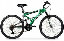 "26"" Men's Mountain Bike Hyper Havoc Full Suspension 21 Speed Bicycle Green"