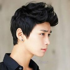 Korean Handsome Vogue Black Short Hair Cosplay Party Hair Wig Full Wigs Men