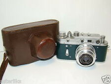 ZORKI 2C Green body Soviet/Russian 35mm Rangefinder Camera, Industar-50 (3.5/50)
