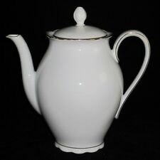 "Seltmann Weiden, Bavaria, White & Gold Trim, 2679, NORA, 7 1/2"" Coffee Pot"