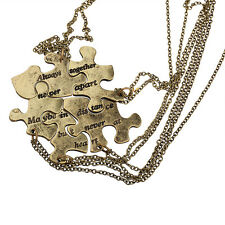 Lux Burnish Gold Always Together Puzzle Best Friends  Bff Necklace