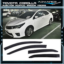 2014-2016 Toyota Corolla Window Visors 4Pc Injection UV Resistant Guard Acrylic