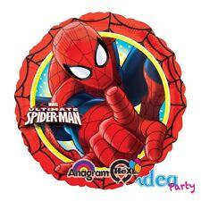 PALLONCINO MYLAR SPIDERMAN 45 cm, Addobbi Festa Compleanno ultimate Spider man