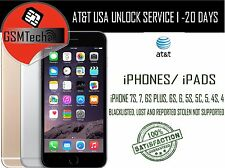 AT&T iPhone 7, 7+, 6S, 6+ 6 5S 5C 4 UNLOCK SERVICE For Active on another account