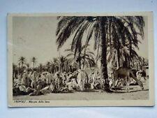 TRIPOLI Libia Colonia coloniali AOI mercato della lana vecchia cartolina
