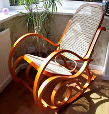 BRAND NEW HONEY BENTWOOD RATTAN BIRCH ROCKING CHAIR LIVING BED ROOM CONSERVATORY
