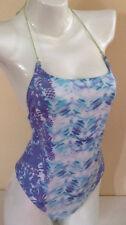 $80 NWT Victorias Secret SWIM Tropical Blue Halter M One Piece Swim Suit A357