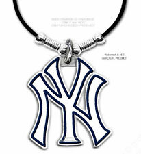 "NEW YORK YANKEES NECKLACE for MALE or FEMALE - MLB GIFT SALE - 24"" LEATHER  #BL*"