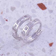 Very  Fashion 9K White Gold Filled Huggie Hoop Earrings,F1216