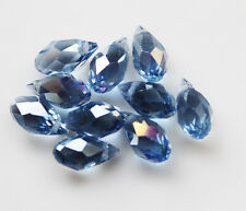 10pcs Top-drilled Faceted Glass Crystal Teardrop Beads6x12mm B181
