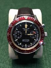 Vintage Wittnauer Geneve Professional Chronograph Stainless Steel Diver's Watch