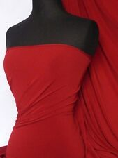 Deep red 4 way stretch soft touch lycra jersey Q36 RD