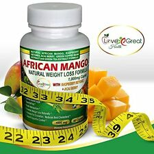 African Mango Natural Weight Loss Formula 1000MG 60 Caplets Helps Leptin Leve.