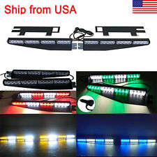 32LED Emergency Warning Strobe Visor LED Light Split Mount Deck Dash Lightbar