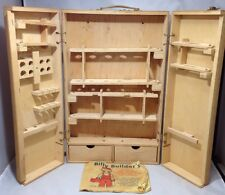 Vintage Billy Builder's Carpenters and Mechanics Wooden Box and Manual 1980