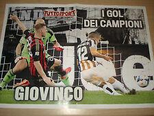 MAXI POSTER FC JUVENTUS JUVE SEBASTION GIOVINCO GOALS MILAN 70X50 CM TUTTOSPORT
