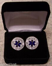 French Cuff Links EMT Emergency Medical with Gift Box