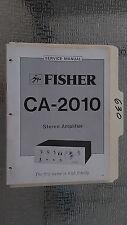 Fisher ca-2010 service manual original repair book stereo amp amplifier factory