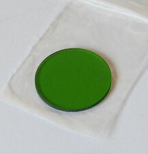 Quality 32mm Green Glass Filter for Microscope, Approx 1.75mm Thick, New in Bag