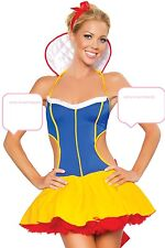 Ladies Sexy Snow White Fancy Dress Costume Hen Night Themed Parties Halloween