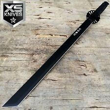 "27"" Japanese Samurai HIGH CARBON Steel FULL TANG KATANA Ninja BLACK Blade Sword"