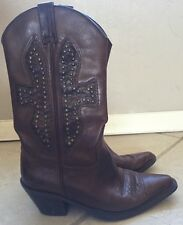 """Bakers """"AUDREY"""" Brown Leather Western Cowboy Boots Stud Detail Size 6.5"""