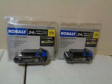 """Kobalt 24 Volt Max 1.5 Ah Lithium Ion Battery (LOT OF """"2"""" TWO)"""