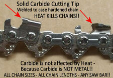 "*SOLID* Carbide Chainsaw Chain 20"" 81 Link 0.325""-0.050"" 20PBX Profile SEE VIDEO"