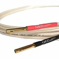 QED ORIGINAL 1 x 1m OFC BI-WIRE Speaker Cable 4+4 AIRLOC Heatshrink Terminated
