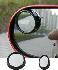 1 pair Vehicle  Driver Wide Angle Round Convex Mirror Blind Spot Black UE