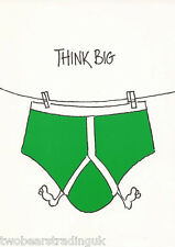 Postcard: Think Big - Green Y-Fronts (1997)