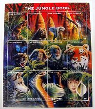 1997 GAMBIA WILD ANIMAL STAMPS SHEET WILDLIFE STAMPS JUNGLE BOOK TIGER ELEPHANT