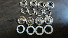 "4-PART OPEN RING SNAPS-SIZE 16-3/8""  WHITE   1 DOZEN-MADE IN THE USA"