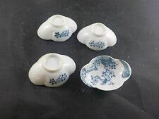 asian china set of 4 japanese blue white dipping dishes vintage #5024