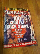 KERRANG Magazine 1996 The 100 Coolest Rock Stars Ever Giant Posters More Metal