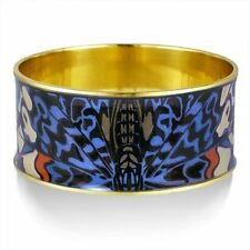 "Butterfly Wing Bangle Bracelet in Gold-Plated Brass 1-1/4 High x 2.5"" in Dia."