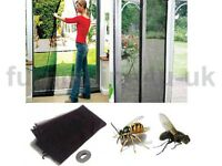 NEW INSECT FLY MIDGE WASP SCREEN WASP PATIO DOOR DRAUGHT CURTAIN PEST CONTROL