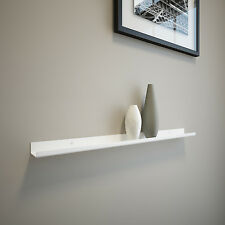 2FT Carbon Steel Floating Ledge for Photos and Pictures, Powder Coated White