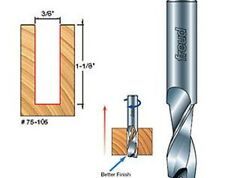 "Freud 75-105 3/8"" Diameter X 1-1/8"" Height 2-Flute Up Spiral Router Bit  3/8"" SH"
