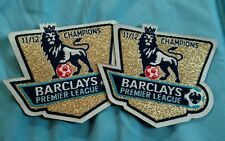 Barclay's Premier League 11/12 Champions Iron On Patch Set Of Two (2) Small