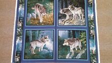 PINE RIDGE PILLOW PANEL WILD WINGS TIMBER WOLVES  ARTIST PERSIS CLAYTON WEIRS