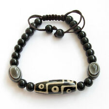 9Eyes Heaven Eye Bead Dzi Tibet Agate Gem Buddhist Prayer Beads Mala Bracelet