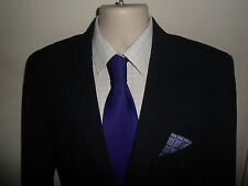 STUNNING* 40R HUGO BOSS Mens Navy Stripe Suit Jacket Blazer 46R Aamon/ Hago