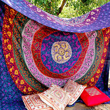 Large Indian Mandala Tapestry Hippie Hippy Wall Hanging Dorm Throw Bedspread Art